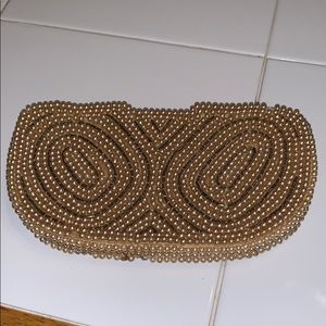 Vtg Miranda pearl beaded coin purse